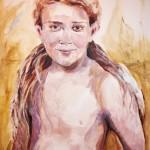 Portretten - Jongen met lang haar
